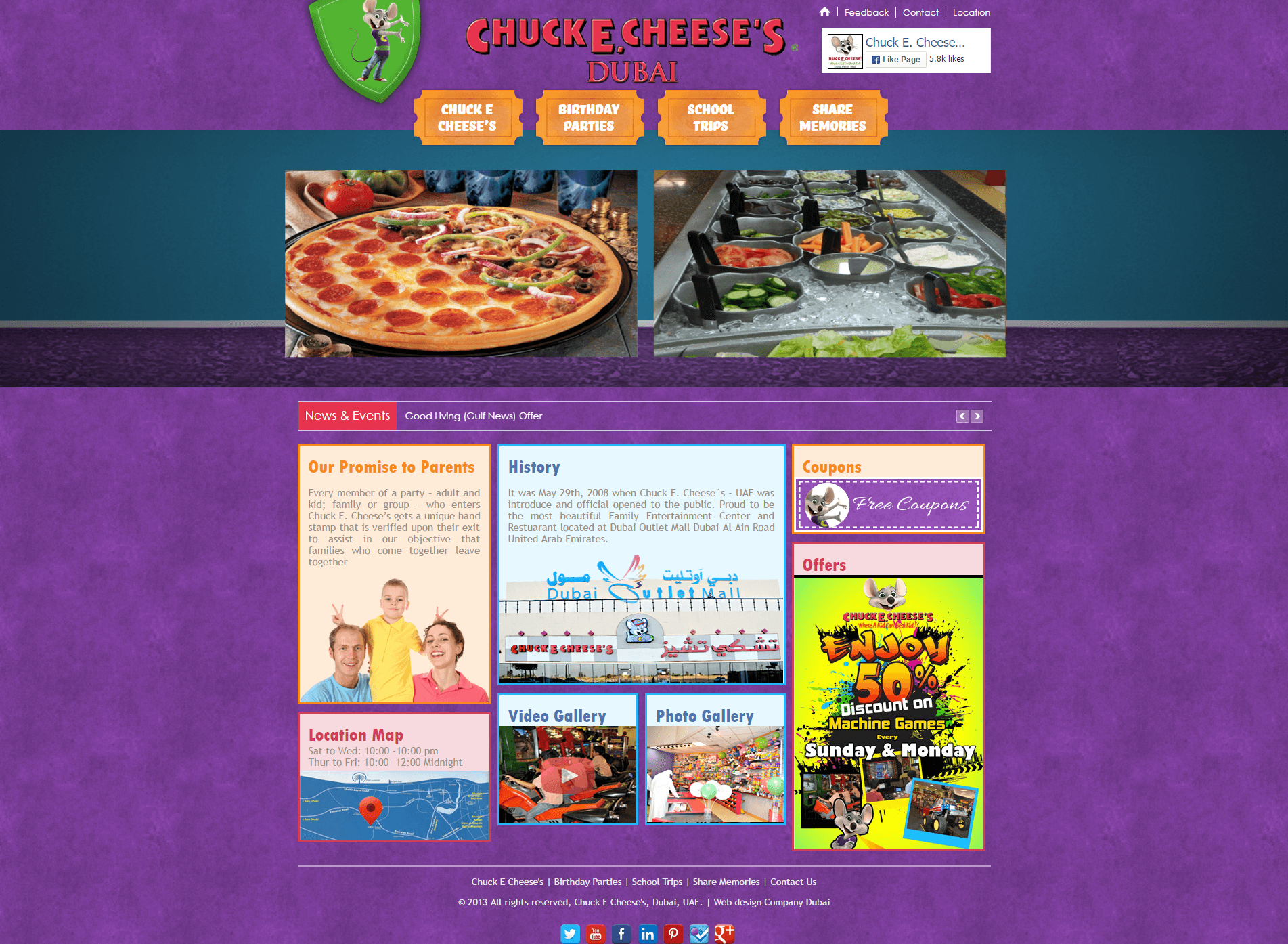 Chuck E. Cheese's before