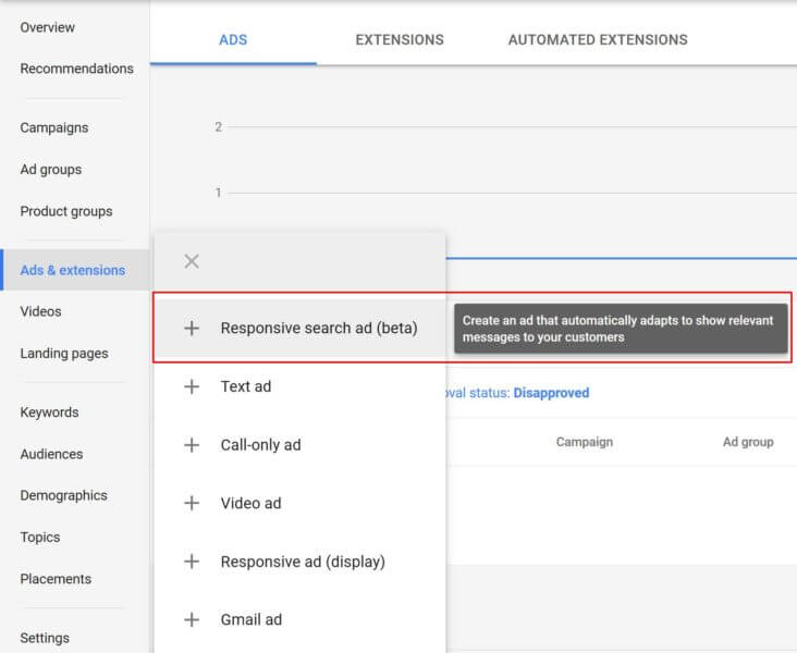 Google AdWords Beta