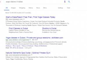 Google Adwords campaign example