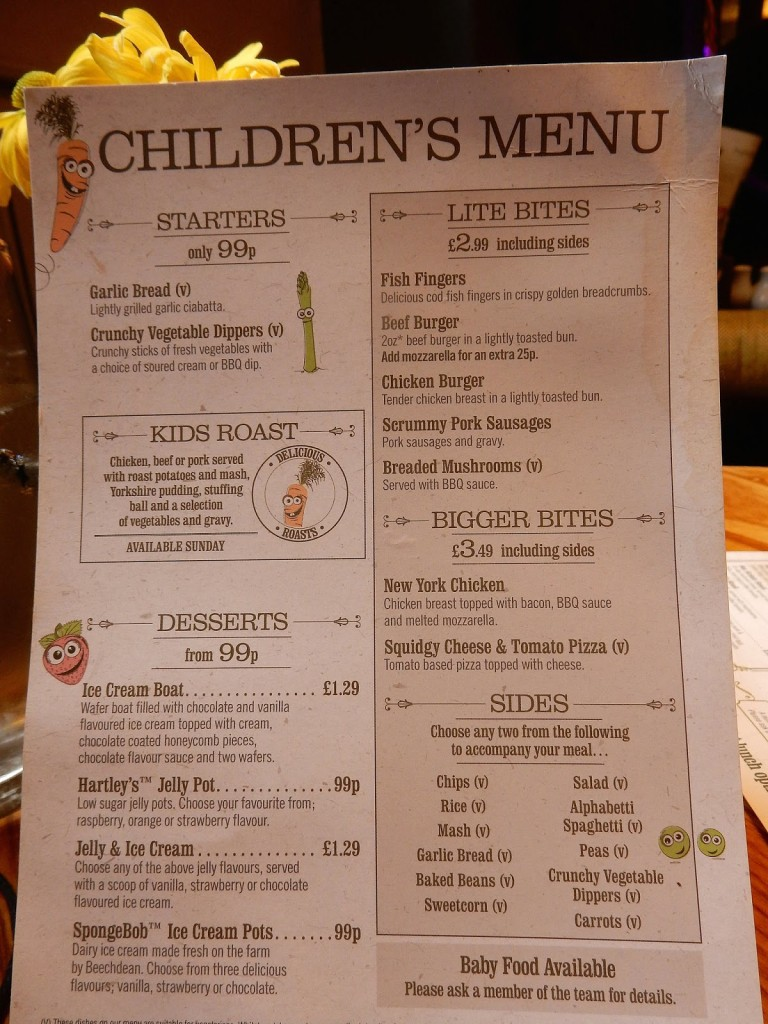 Kid's Menu - Be Unique Group Hospitality